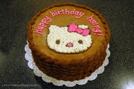 Hello Kitty cake from i-heart-bakingblogspot.com