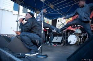 Big Daddy Kane performs at Restoration Rocks 2013 with dancers. Photo: Nashish Photography